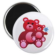 Red Teddy Bears Magnet
