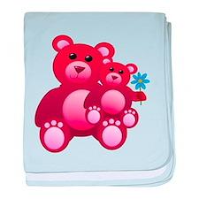 Red Teddy Bears baby blanket