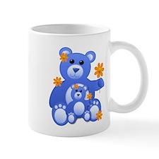 Blue Teddies w/Flowers Mug