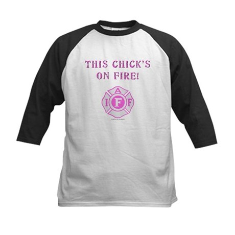 This Chicks on Fire Kids Baseball Jersey