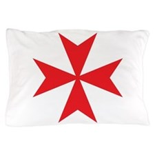 Red Maltese Cross Pillow Case