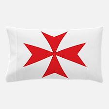 Red Maltese Cross Pillow Case
