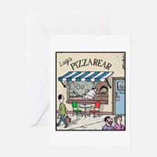 Luigis Pizzarear Greeting Card