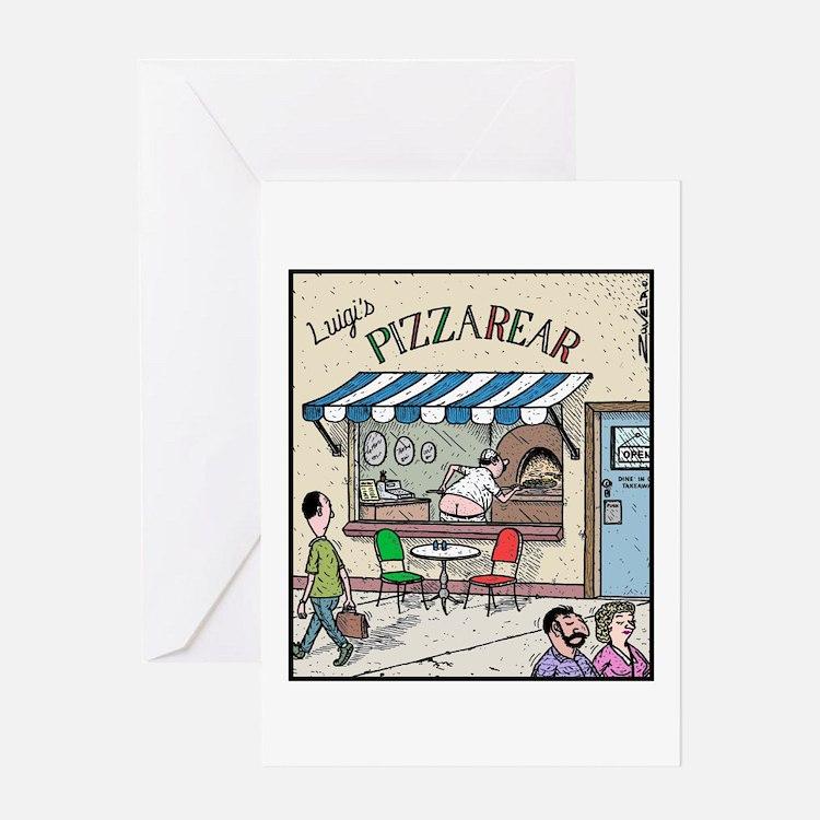 Luigis Pizzarear Greeting Card