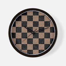 SQR1 BK-MRBL BR-PNCL Wall Clock