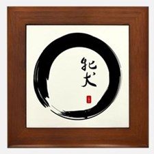 """Enso with Chinese for """"Bitch"""" Framed Tile"""