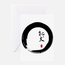 "Enso with Chinese for ""Bitch"" Greeting Card"