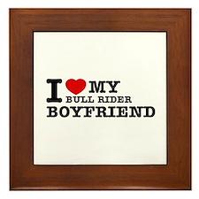 I love My Bull Rider Boyfriend Framed Tile