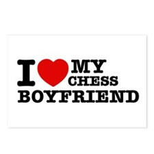 I love My Chess Boyfriend Postcards (Package of 8)