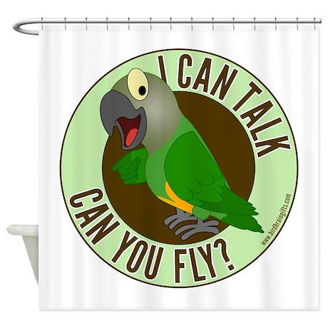 talk fly senegal border 1.png Shower Curtain