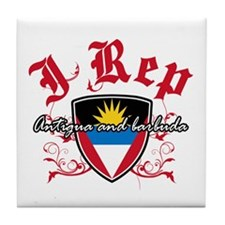 I Rep Antigua And Barbuda Tile Coaster