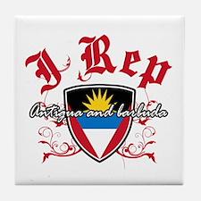 I Rep Antigua And Barbuda Tile Coaster