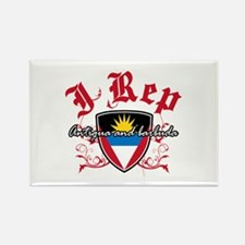 I Rep Antigua And Barbuda Rectangle Magnet