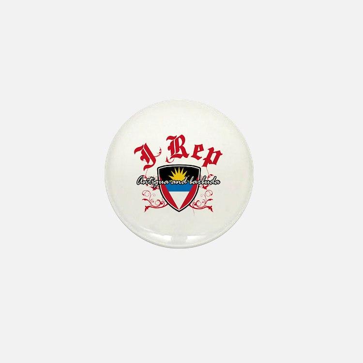 I Rep Antigua And Barbuda Mini Button
