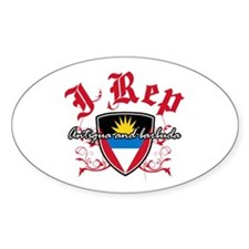 I Rep Antigua And Barbuda Decal