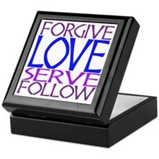 Forgive Love Serve Follow Keepsake Box