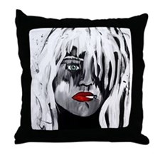 Courtney Love Throw Pillow