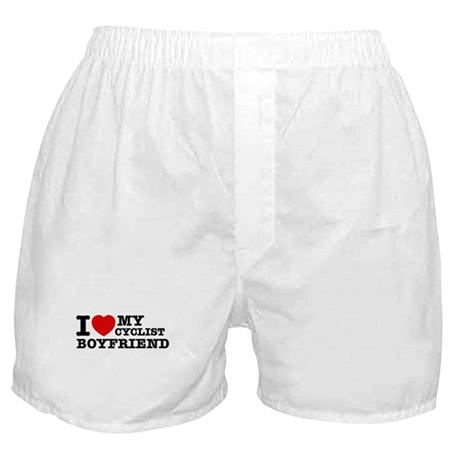 I love My Cyclist Boyfriend Boxer Shorts