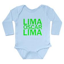 LOL-Green Long Sleeve Infant Bodysuit