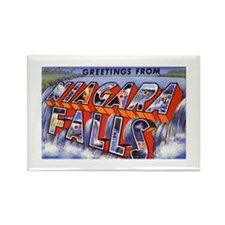 Niagara Falls Greetings Rectangle Magnet (10 pack)