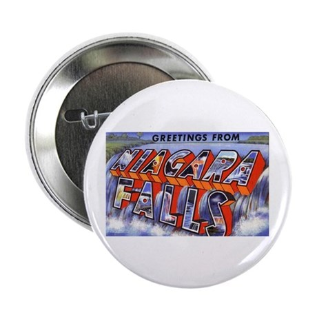 "Niagara Falls Greetings 2.25"" Button (10 pack)"