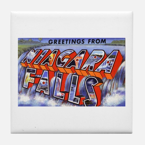 Niagara Falls Greetings Tile Coaster