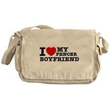 I love My Fencer Boyfriend Messenger Bag