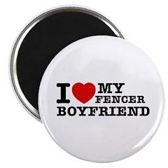I love My Fencer Boyfriend Magnet