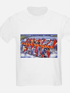 Niagara Falls Greetings (Front) Kids T-Shirt