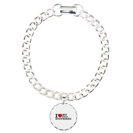 I love My Golf Boyfriend Charm Bracelet, One Charm
