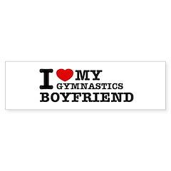 I love My Gymnastics Boyfriend Bumper Sticker