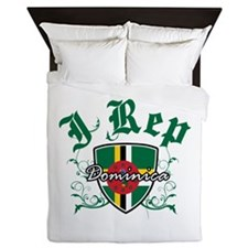 I Rep Dominica Queen Duvet