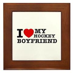 I love My Hockey Boyfriend Framed Tile
