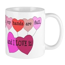 Yes, my hands are full, and I LOVE it! Mug