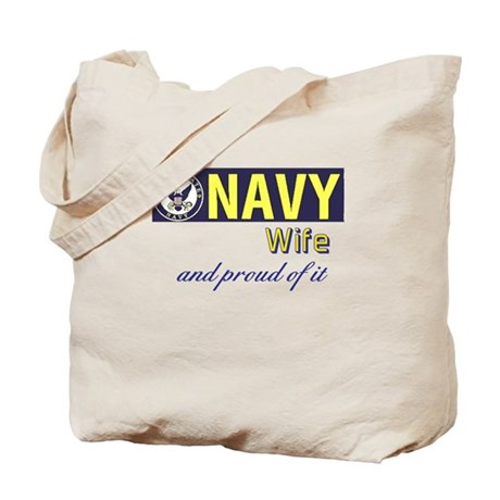 Navy Wife.png Tote Bag