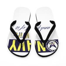 Navy Wife.png Flip Flops
