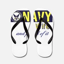 Navy Wife.png Flip Flops