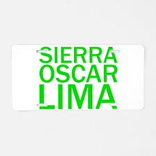 SOL-Green Aluminum License Plate