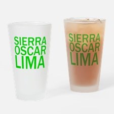 SOL-Green Drinking Glass