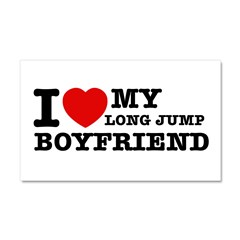 I love My Long Jump Boyfriend Car Magnet 20 x 12