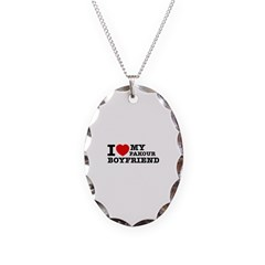 I love My Pakour Boyfriend Necklace Oval Charm