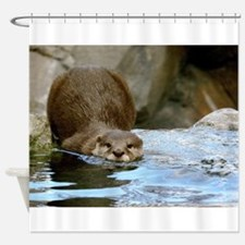 River Otter (gone Fishin') Shower Curtain
