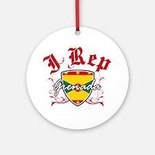 I Rep Grenada Ornament (Round)