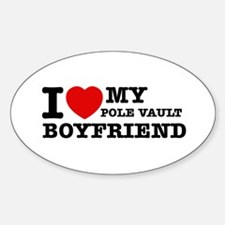 I love My Pole Vault Boyfriend Sticker (Oval)
