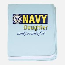 Navy Daughter.png baby blanket