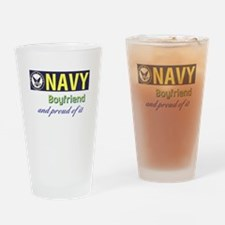 Navy Boyfriend Drinking Glass