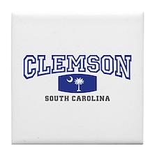 Clemson South Carolina, SC, Palmetto State Flag Ti