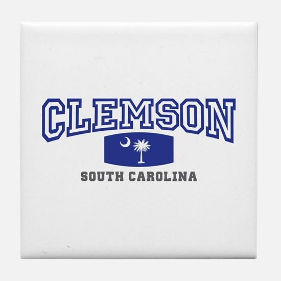 Clemson South Carolina, SC, Palmetto State Flag Ti