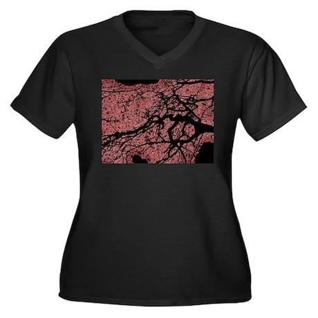 At dusk Women's Plus Size V-Neck Dark T-Shirt