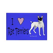 I love Rat Terriers Rectangle Magnet